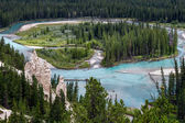 Bow River and the Hoodoos near Banff Canadian Rockies Alberta Canada — Stock Photo