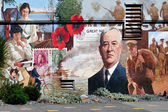 Mural in Chemainus Vancouver Island — Stock Photo