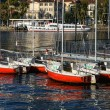 Boats at Lake Como Lecco Italy — Stock Photo #38225773