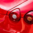 Stock Photo: Close-up of rear of sports car
