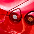Close-up of the rear of a sports car — Stock Photo