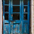 The old blue door — Stock Photo