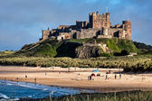 View of Bamburgh Castle — 图库照片