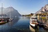 Boats at Lake Como Lecco Italy — Stock Photo