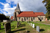 View of Burwash church — Stock Photo