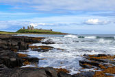 View of Dunstanburgh Castle at Craster Northumberland — Stock Photo