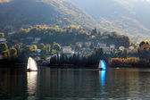 Sailing on Lake Como at Lecco italy — Stock Photo