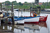Boats on the River Blyth at Southwold — Stock Photo
