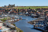 View along the Esk towards Whitby — Stock Photo