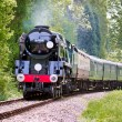 Stock Photo: Rebuilt Bulleid Light Pacific No. 34059 steam locomotive