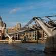Stock Photo: Millennium bridge and St Pauls Cathedral
