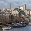 Stock Photo: Charing Cross Staion and Hungerford Bridge