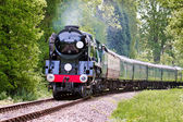 Rebuilt Bulleid Light Pacific No. 34059 steam locomotive — Stock Photo