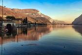 Scenic view of Lake Como from Mandello del Lario — Stock Photo