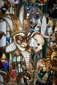 Venetian masks on display in a shop in Venice Italy — Stock Photo