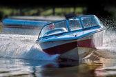 Powerful speed boat — Stock Photo