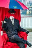 De onzichtbare man — Stockfoto