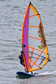 Windsurfer in Funchal harbour Madeira — Stock Photo