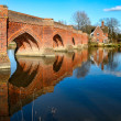 Stock Photo: Close-up view of arches of Clifton Hampden bridge