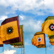 Flags on display at Lloyd Park Croydon Surrey — Stock Photo #38300653