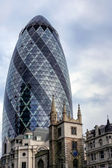 30 St Mary Axe affectionally known as the Gherkin — Stock Photo