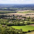 Stock Photo: Scenic view of Sussex from South Downs