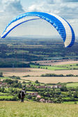 Paragliding at Devil's Dyke — Stock Photo