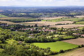 Scenic view of Sussex from the South Downs — Stock Photo