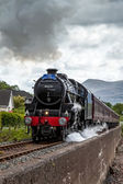 The Jacobite steaming through Corpach — Stock Photo