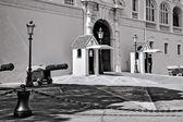 Vakta jourhavande på prinsens palats monte carlo monaco europa — Stockfoto