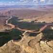 Stock Photo: Aerial view of Colorado River