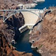 Stock Photo: View of Hoover dam and bridge