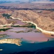 Stock Photo: Colorado River joins Lake Mead