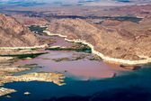 Colorado River joins Lake Mead — Stock Photo