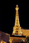 Réplica de torre eiffel no hotel paris las vegas — Fotografia Stock