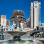 Venetian hotel and casino at Las Vegas — Stock Photo