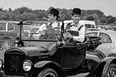 Laurel and Hardy look alikes — Stock Photo
