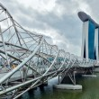 Stock Photo: Helix bridge Singapore