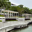 Stock Photo: Esplanade outside MarinBay Sands shopping centre