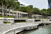 Esplanade outside the Marina Bay Sands shopping centre — Stock Photo