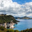 View towards Cathedral Cove — Stock Photo