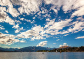 Yacht race on Lake Wanaka — Stock Photo