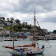 Stock Photo: Yacht moored off Dartmouth