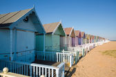 Beach huts at West Mersea — Stock Photo