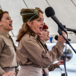 Stock Photo: Female singers at Goodwood Revival