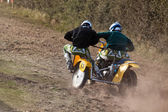Sidecar motocross at the Goodwood Revival — Stock Photo