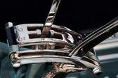 ロールスロイスの銀製の夜明け 1908年のクローズ アップのギアを変更 — ストック写真