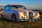 Jaguar Mk 2 saloon parked at Goodwood — Stock Photo