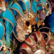 Постер, плакат: Venetian masks for sale at Winter Wondeland in Hyde Park