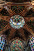 Ceiling detail Ely cathedral — Stock Photo